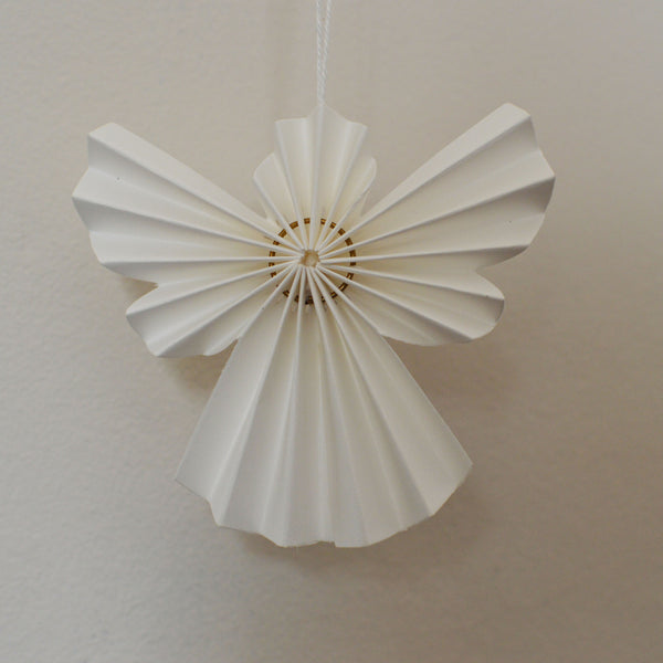Christmas Ornament Angels From Office Supplies: White Paper Angel Christmas Christmas Decorations