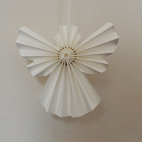Set of 10 White Paper Angel Decorations