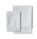 The Linen Works white waffle design soft hand towel on Oates & Co.