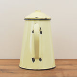 Cream Enamel French Vintage Coffee Pot