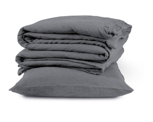 Best Quality Charcoal Linen Standard Natural Pillowcase