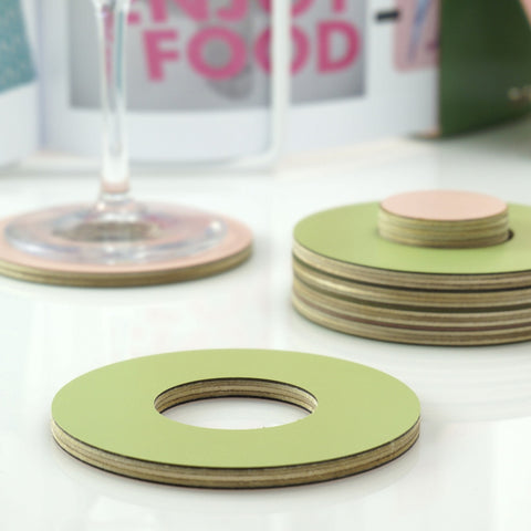 Wooden Colour Coasters
