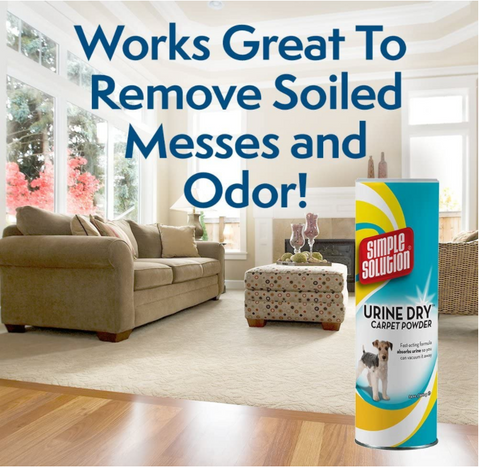 Simple solution pet carpet powder stain