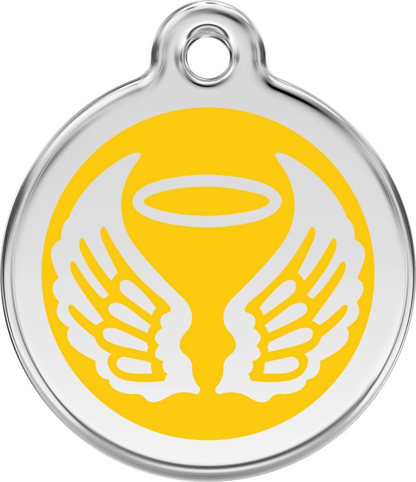 Angel Wings Dog Tag