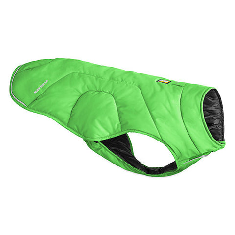 Quinzee Medow Green - warm insulated dog jacket