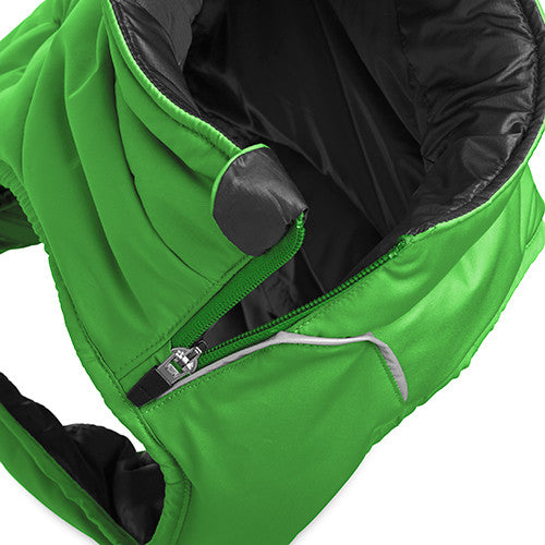 Quinzee™ Meadow Green - Warm Insulated Dog Jacket