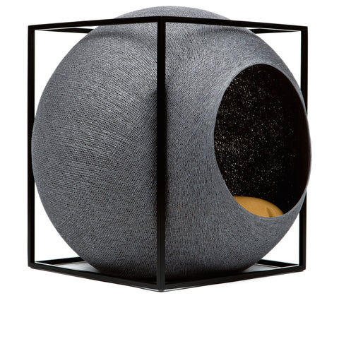 The Cube Cat House (Dark Grey)
