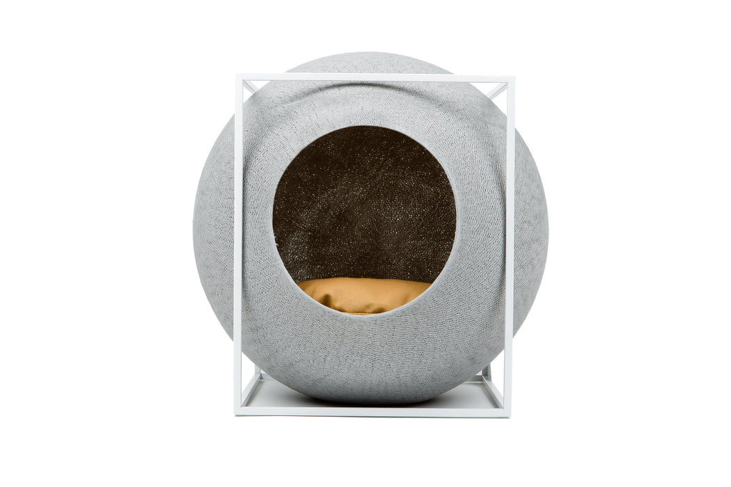 The Cube Cat House (Light Grey)