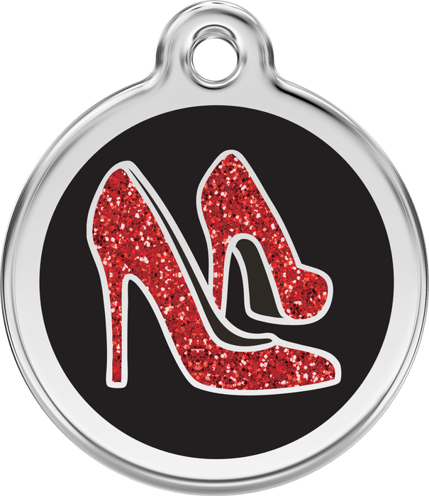 Glitter Red Heels Dog Tag