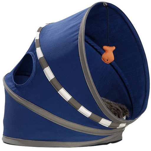 Cat Playhouse & Bed - Fall (Blue)