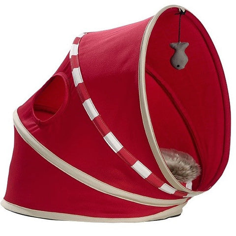 Cat Playhouse & Bed - Fall (Red)