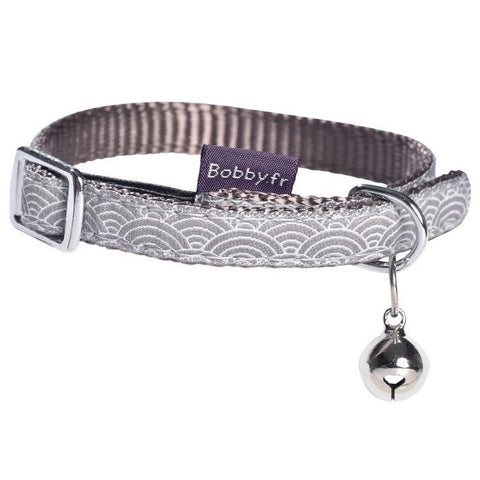 Seigaiha Cat Collar (Taupe Grey)