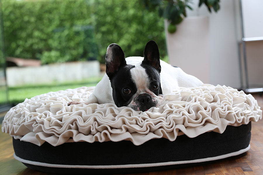 Lounge Rose Pet Bed (Cream/Graphite)