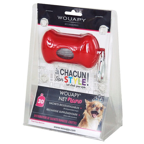 Net Nano Poo Bag Dispenser (Red)