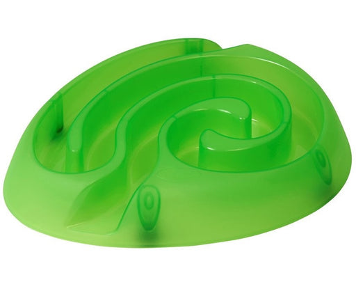 Buster Dog Maze Slow Feeder Bowl (Lime)