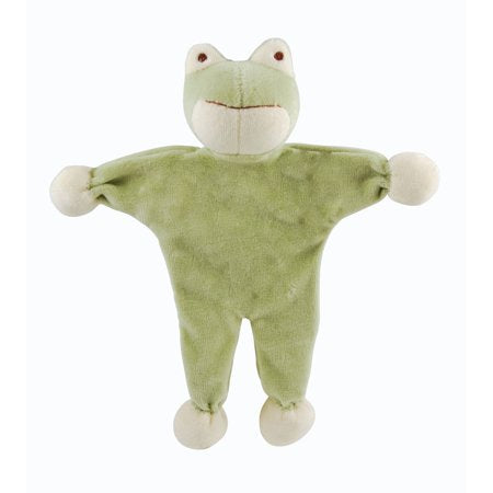Organic Cotton Dog Toy with Crinkle Sound (Frog)