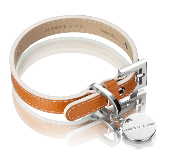 Oxford Saffiano Dog Collar (Luggage)