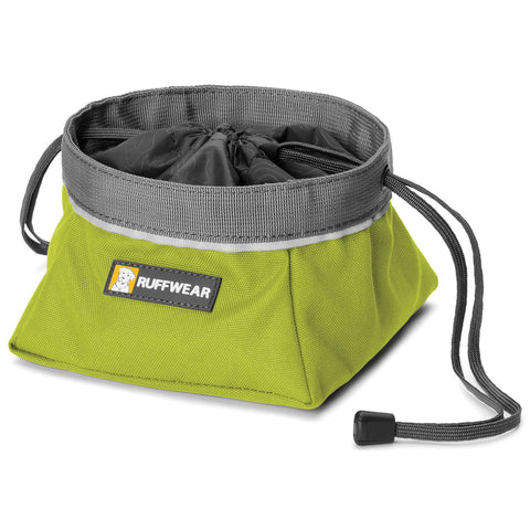 Quencher Cinch Top™ - Portable Dog Bowl (Forest Green)