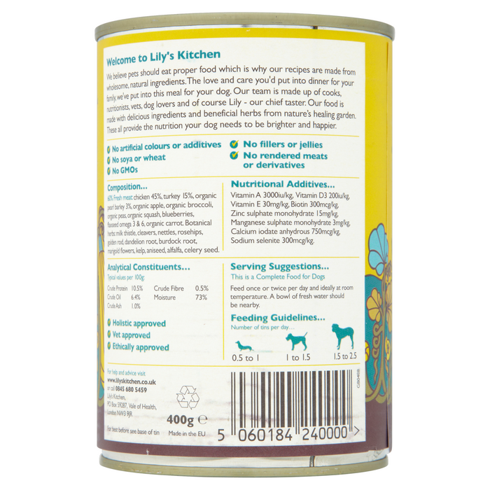 Chicken & Turkey Casserole Dog Food (400g)