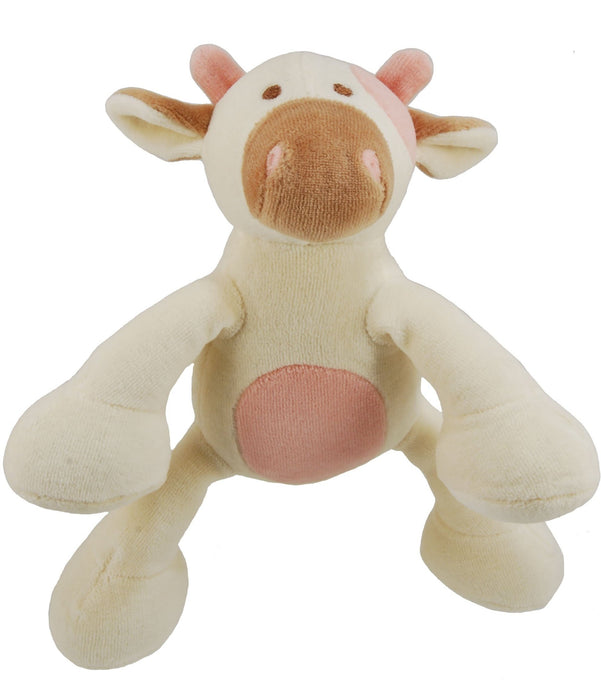 Organic Cotton Millie Cow Dog Toy with squeaker