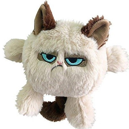 Grumpy Cat Head Plush Dog Toy