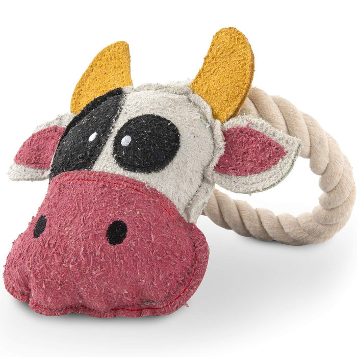 Cow Loop Rope Dog Toy