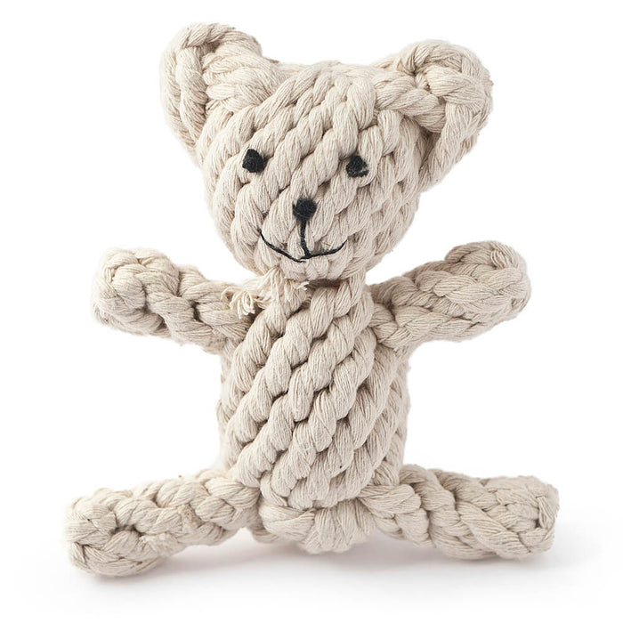 Natural Knotted Rope Dog Toy (Bear)
