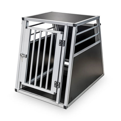 Dog Transport Aluminium Double Box (Moss)