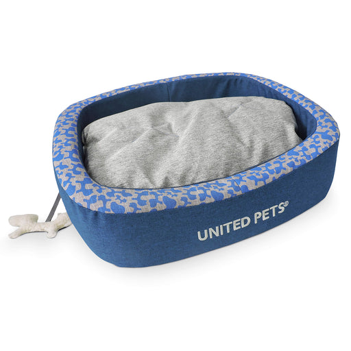 Snorefie Cushion Dog Bed (Blue)