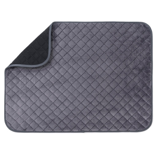 Knight Plaid Pet Blanket (black/grey)