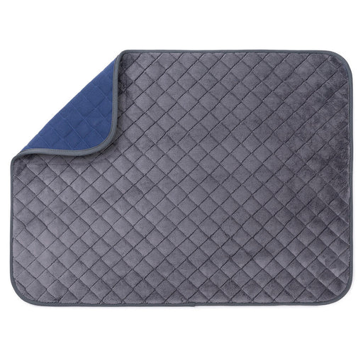 Knight Plaid Pet Blanket (blue/grey)