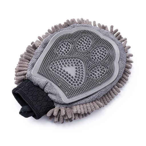 Dirty Dog Grooming Mitt (Grey)