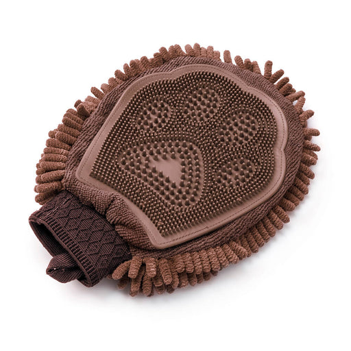 Dirty Dog Grooming Mitt (Brown)
