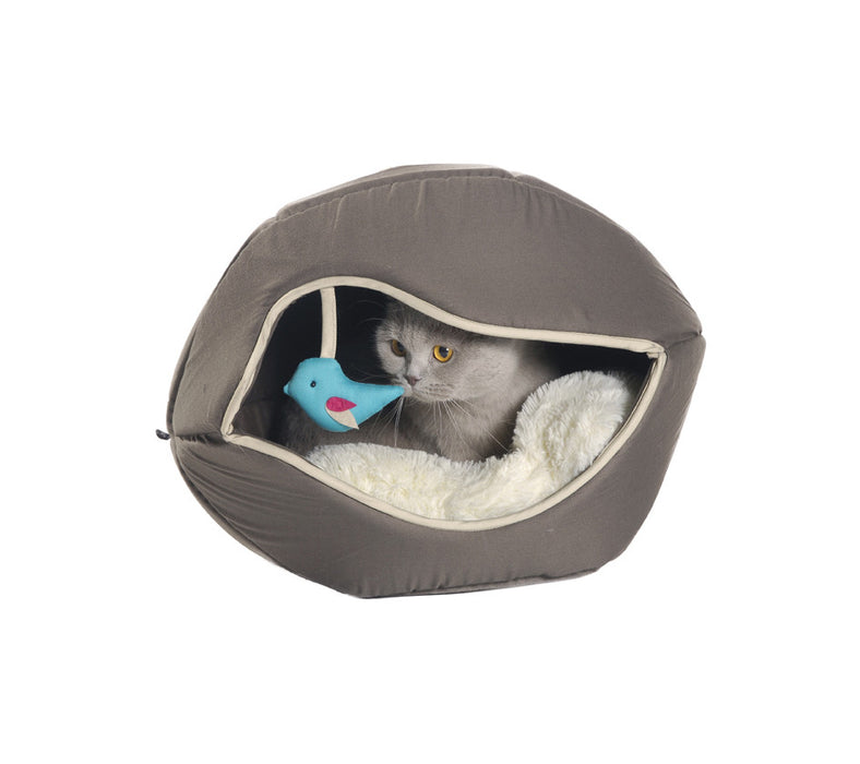 Cat Playhouse & Bed- Printemps (Taupe)