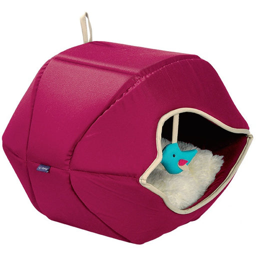 Cat Playhouse & Bed- Printemps (Raspberry)