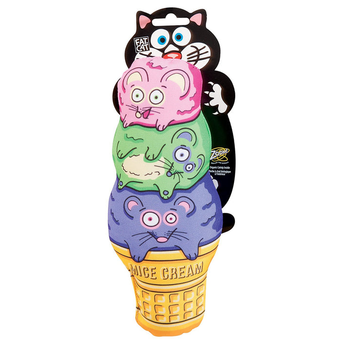 Kitty Kickz Mice Cream Cone Catnip Cat Toy
