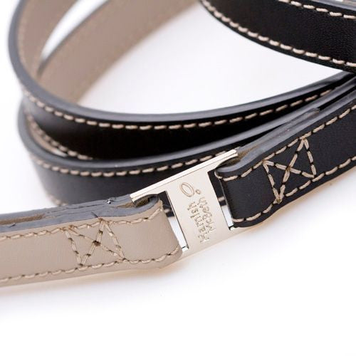 Savile Row Black/Beige Dog Lead