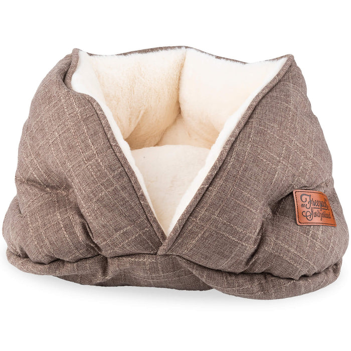 Cat Bed Donut Lena (Brown)