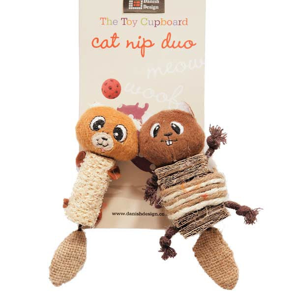 Catnip Duo Cat Toy (Chip + Chap Chipmunk)