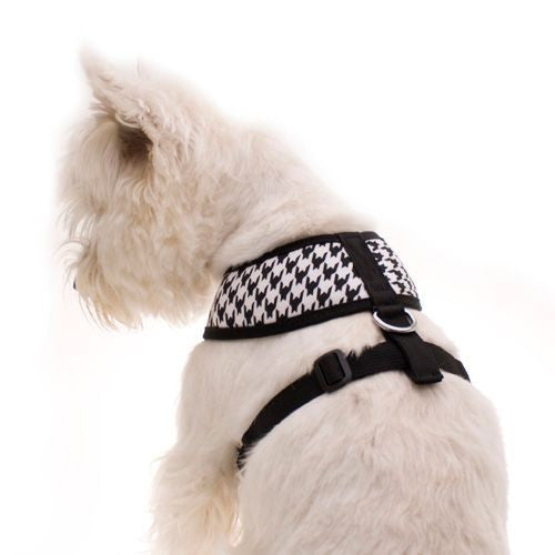 Dog Harness (Black Houndstooth)