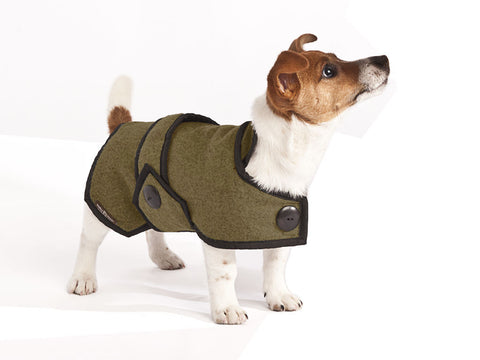 Wool Dog Coat (Khaki Green)