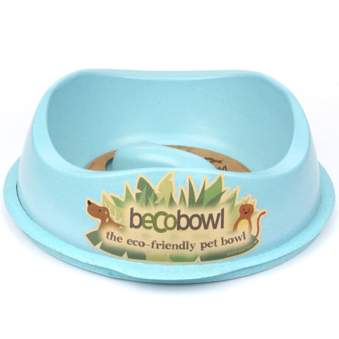 Beco Slow-Feed Dog Bowl (Blue)