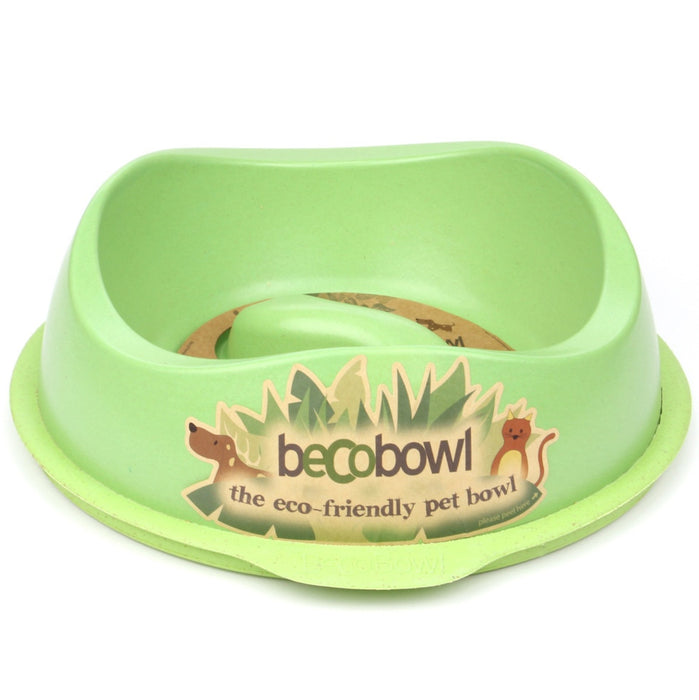 Beco Slow-Feed Dog Bowl (Green)