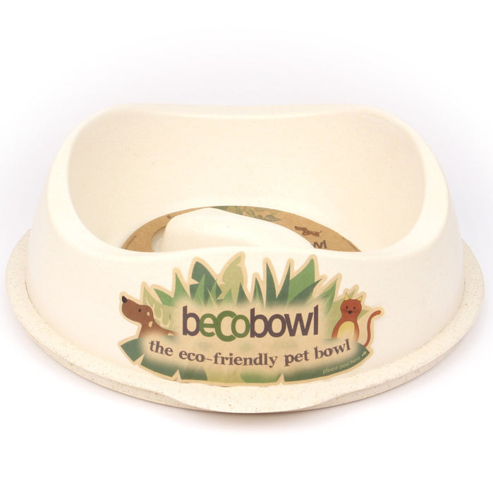 Beco Slow-Feed Dog Bowl (Natural)