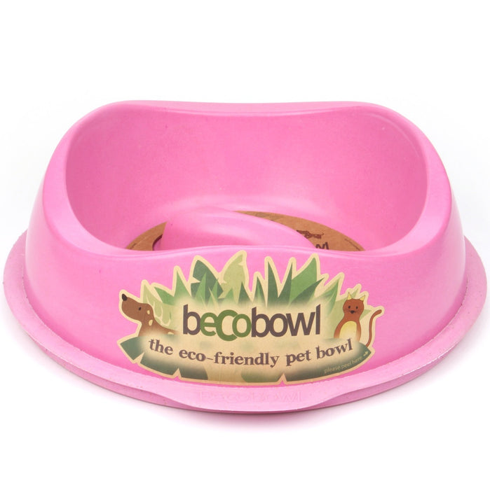 Beco Slow-Feed Dog Bowl (Pink)