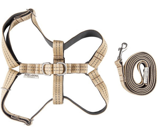 Dog harness & lead set (Beige)