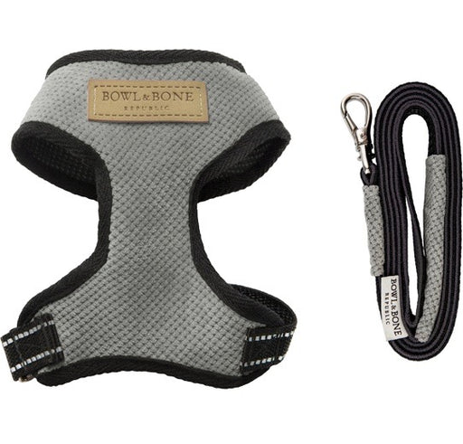 Candy Dog Harness & Lead Set (Grey)