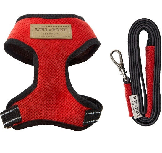 Candy Dog Harness & Lead Set (Red)