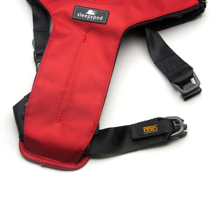 Click-it Dog Safety Harness (Strawberry Red)