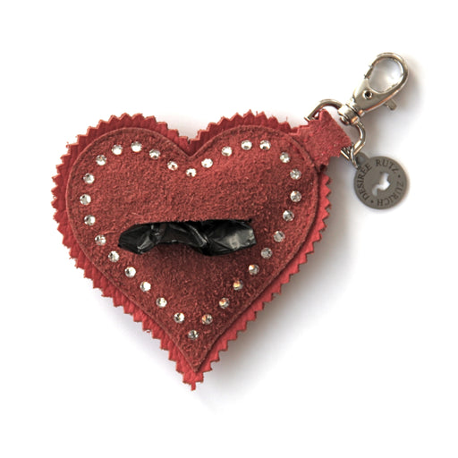 "Poop Bag Holder (Heartbreakr Swarovski Crystals ""Cherie"")"